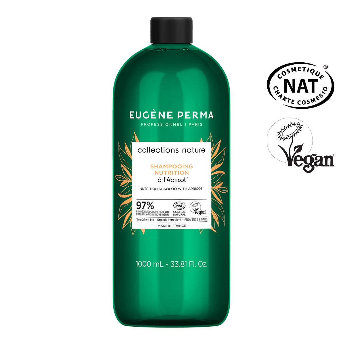 Shampooing Nutrition Abricot Collections Nature Eugène Perma 1000ml