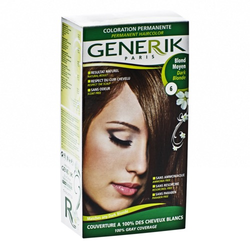 Kit Coloration Sans Ammoniaque Generik - N° 6 Blond Moyen