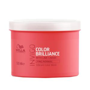 Masque Color Brilliance Cheveux Fins Invigo Wella 500ml