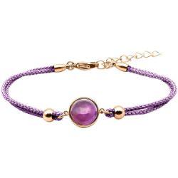 Bracelet Coton Cabochon Améthyste - LABISE