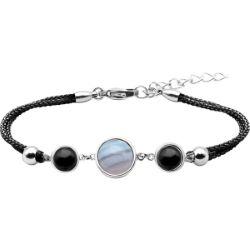 Bracelet Alliance Cabochon Agate Blue Lace Onyx - LABISE