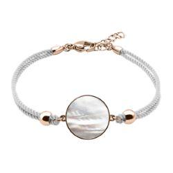 Bracelet Coton Médaillon Nacre blanche - LABISE