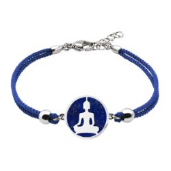 Bracelet Coton Bouddha Lapis Lazuli - LABISE