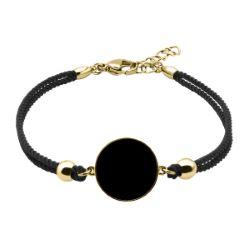 Bracelet Coton Médaillon Onyx - LABISE