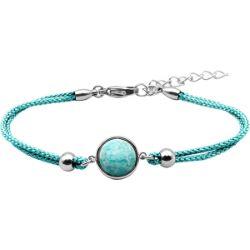 Bracelet Coton Cabochon Amazonite - LABISE