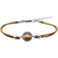 Bracelet Coton Cabochon Oeil de Tigre - LABISE