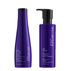 Duo Shu Uemura Yubi Blonde Shampooing Violet + Soin