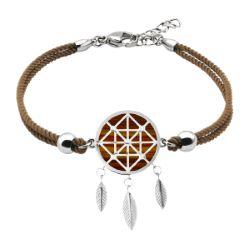Bracelet Coton Attrape-Rêves Oeil de Tigre - LABISE