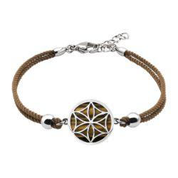 Bracelet Coton Fleur de Vie Oeil de Tigre - LABISE