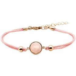 Bracelet Coton Cabochon Quartz Rose - LABISE