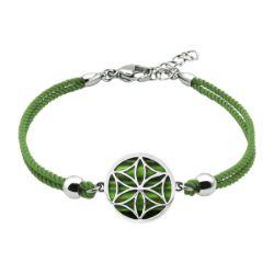 Bracelet Coton Fleur de Vie Malachite - LABISE