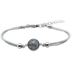 Bracelet Coton Cabochon Jaspe Sesame - LABISE