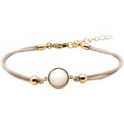 Bracelet Coton Cabochon Nacre - LABISE
