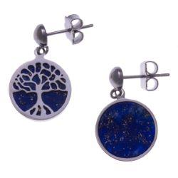 Boucles d'Oreilles Arbre de Vie Lapis Lazuli - LABISE