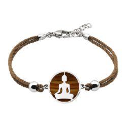 Bracelet Coton Bouddha Oeil De Tigre - LABISE