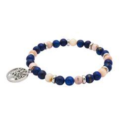 Bracelet Bien-Être Lapis Lazuli & Opale Rose - LABISE