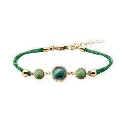 Bracelet Alliance Cabochon Malachite Zoïsite - LABISE