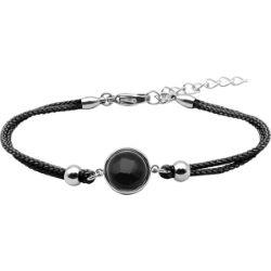 Bracelet Coton Cabochon Onyx - LABISE