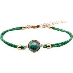 Bracelet Coton Cabochon Malachite - LABISE