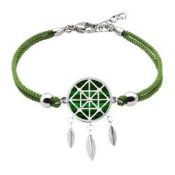 Bracelet Coton Attrape-Rêves Malachite - LABISE