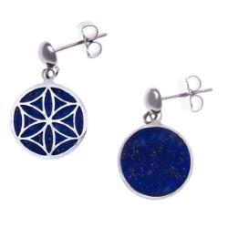 Boucles D'Oreilles Fleur de Vie Lapis Lazuli - LABISE