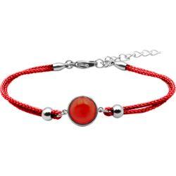 Bracelet Coton Cabochon Cornaline - LABISE