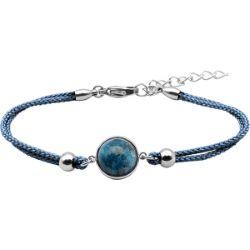 Bracelet Coton Cabochon Chrysocolle - LABISE