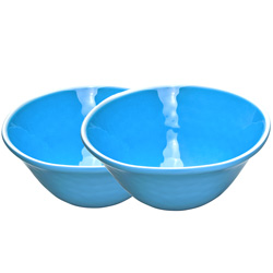Bowl in melamine - Blue. 2 pieces