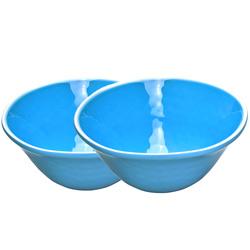 Kom van pure melamine - Blauw 2 stukken