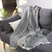 Comfortable throw in cashmere and wool: Anthracite Grey - 130 x 230 cm