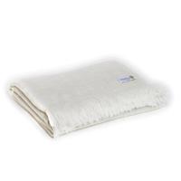 Plaid leggero cashmere e lana motivo grande chevron Beige Mandorla - 130 x 230 cm