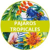 vajilla de melamina Tema Pájaros Tropicales