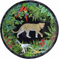 Grande Assiette Plate en mélamine pure - 28 cm - Jungle