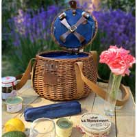 'Tuileries' round picnic basket - for 2 people