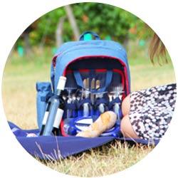 Mochila picnic y accesorios