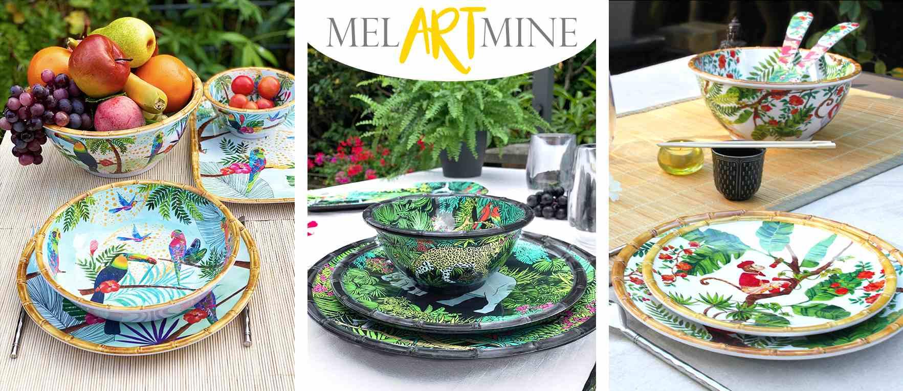 Vajilla de melamina : arte de la mesa colorida