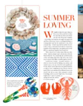 """Our """"Tropical Birds"""" salad servers in Homes Interiors magazine"""