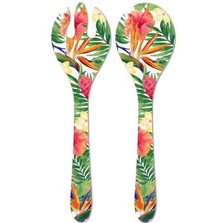 Salad servers in melamine - Exotic Flowers