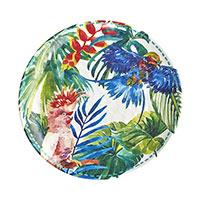 Piatto melamina Uccelli Tropicali e Colori uniti / Bicchieri -50%
