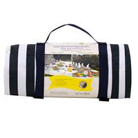 Nappe XL pique-nique marine revers imperméable (140 x 280 cm)
