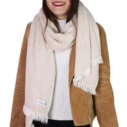 Women's stole/pashmina in Camel diamond pattern