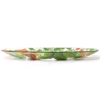 Transparent large dinner plate / round dish in tempered glass, 29.5 cm - Bali's Monkeys