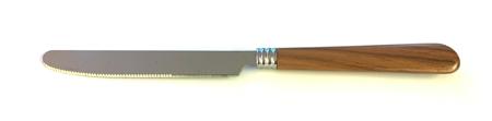Couteau marron imitation bois triple bague
