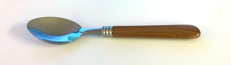 Cuillère marron imitation bois triple bague