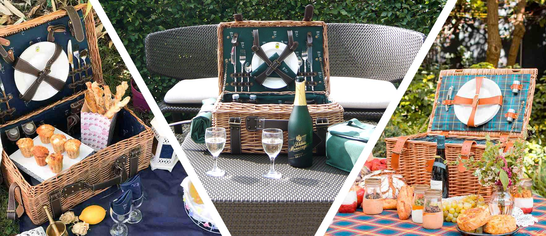 Leren picknickmanden Trianon - Paris