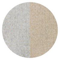 Plaid leggero cashmere e lana chevron con righe Grigio Argentato / Cammello - 130 x 230 cm