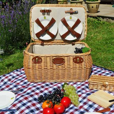 """cesta de picnic en mimbre para 4 personas """"Trocadero"""""""