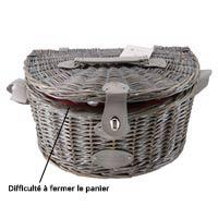 """Panier pique-nique """"Saumur"""" avec bandoulière - 2 personnes - CBA"""