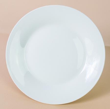 Plato fino de cerámica blanca - 20cm (sin logo)