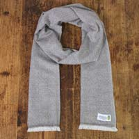 Men's chestnut cashmere and wool scarf - Diamond pattern